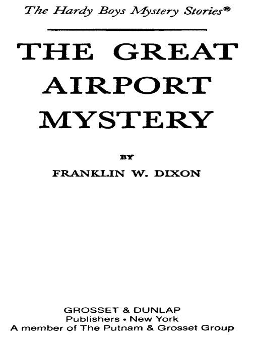 Read The Great Airport Mystery by Franklin W  Dixon online
