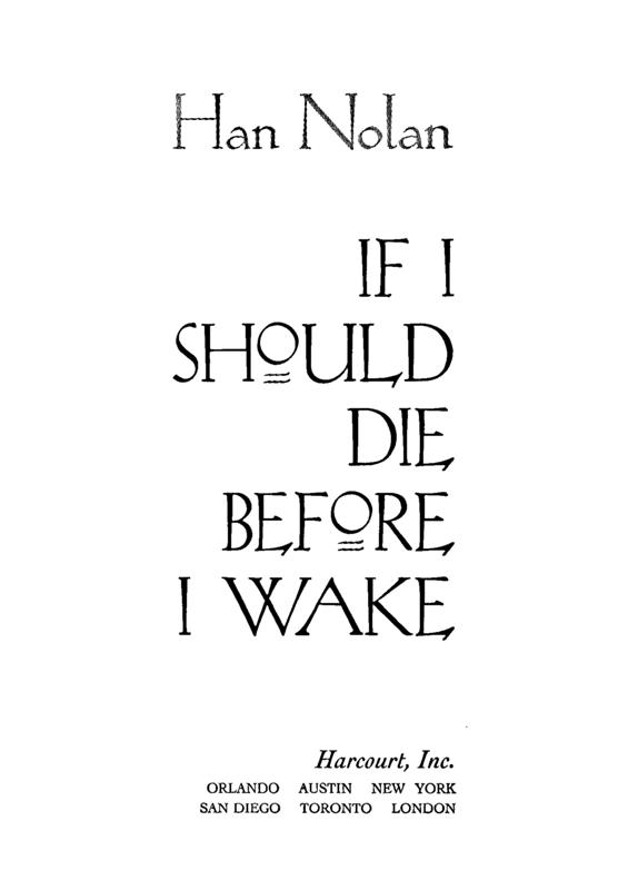 Download If I Should Die Before I Wake By Han Nolan